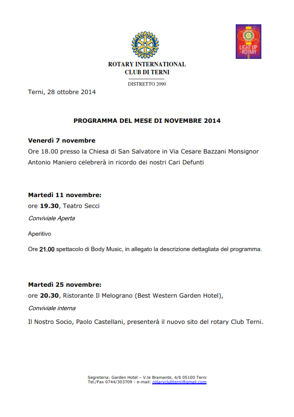 Rotary Club Terni - Programma Novembre 2014_001
