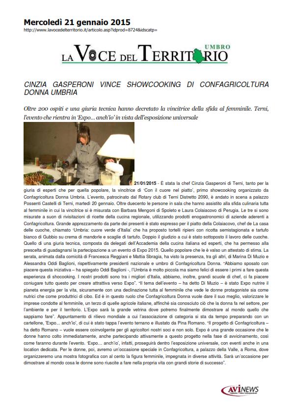21 gennaio - showcooking confagricoltura donna - lavocedelterritorio_001