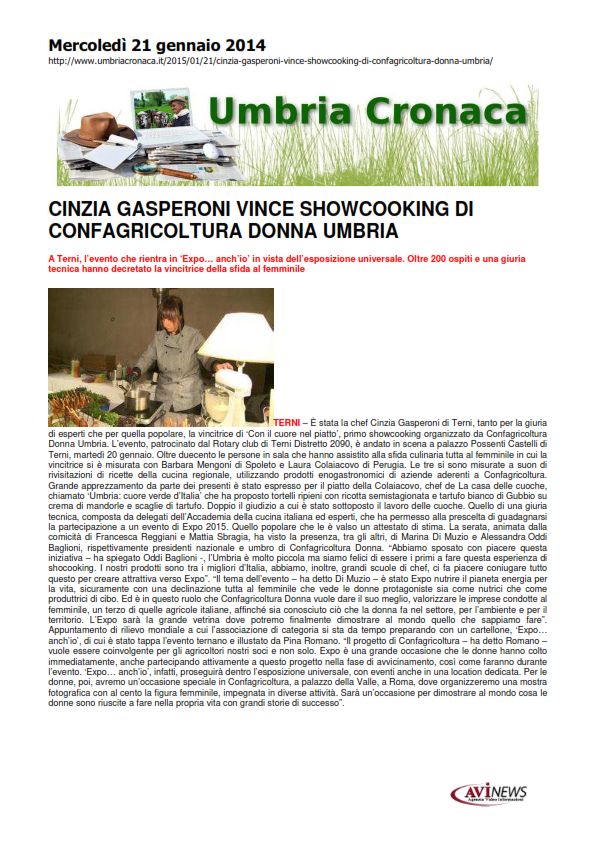21 gennaio - showcooking confagricoltura donna - umbriacronaca_001