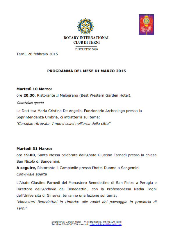 Rotary Club Terni - Programma Marzo 2015_001
