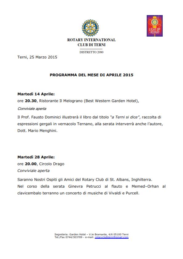 Rotary Club Terni - Programma Aprile 2015_001