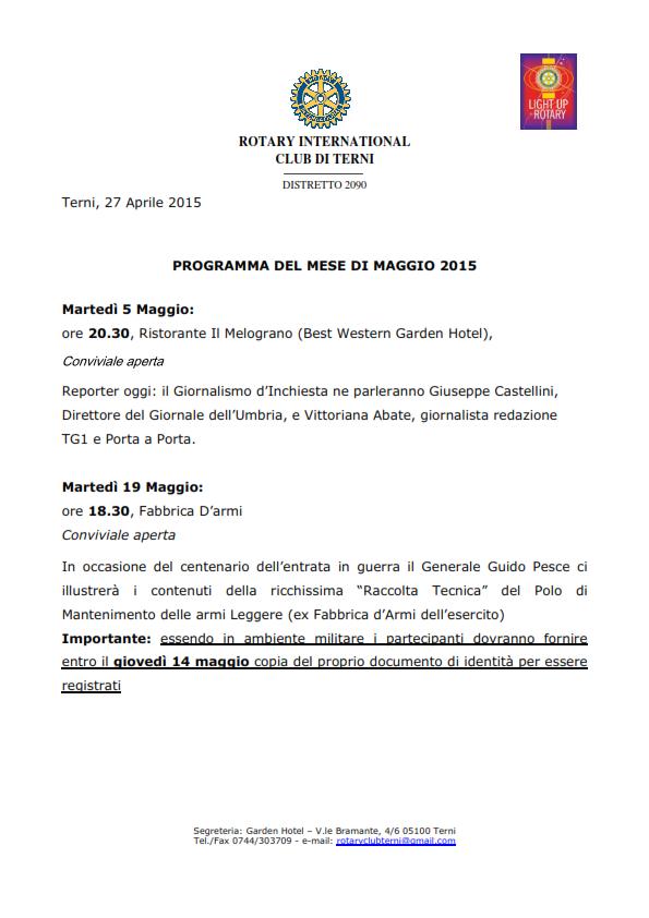 Rotary Club Terni - Programma Maggio 2015_001