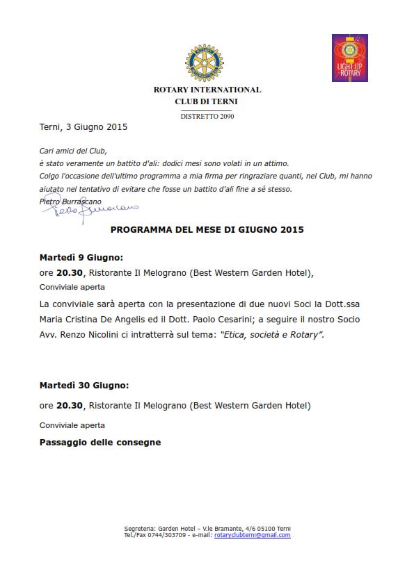 Rotary Club Terni - Programma Giugno 2015_001