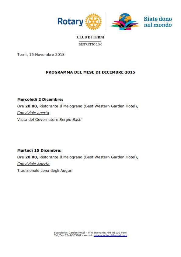 Rotary Club Terni - Programma Dicembre 2015_001