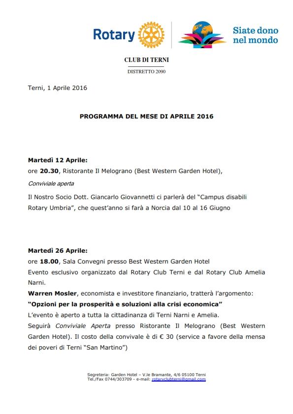 Rotary Club Terni - Programma Aprile 2016_001