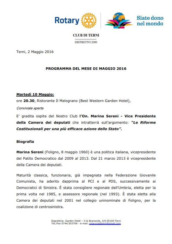 Rotary Club Terni - Programma Maggio 2016_001