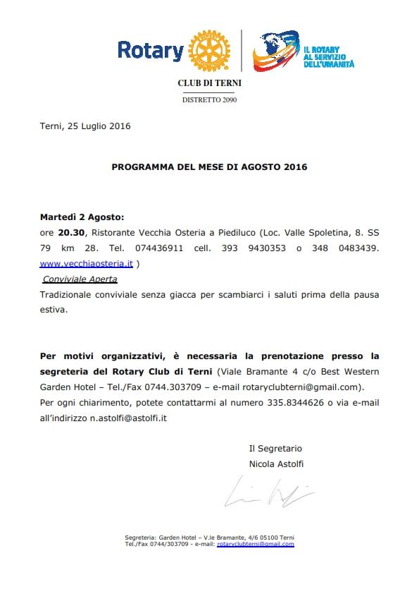 Rotary Club Terni - Programma Agosto 2016_001
