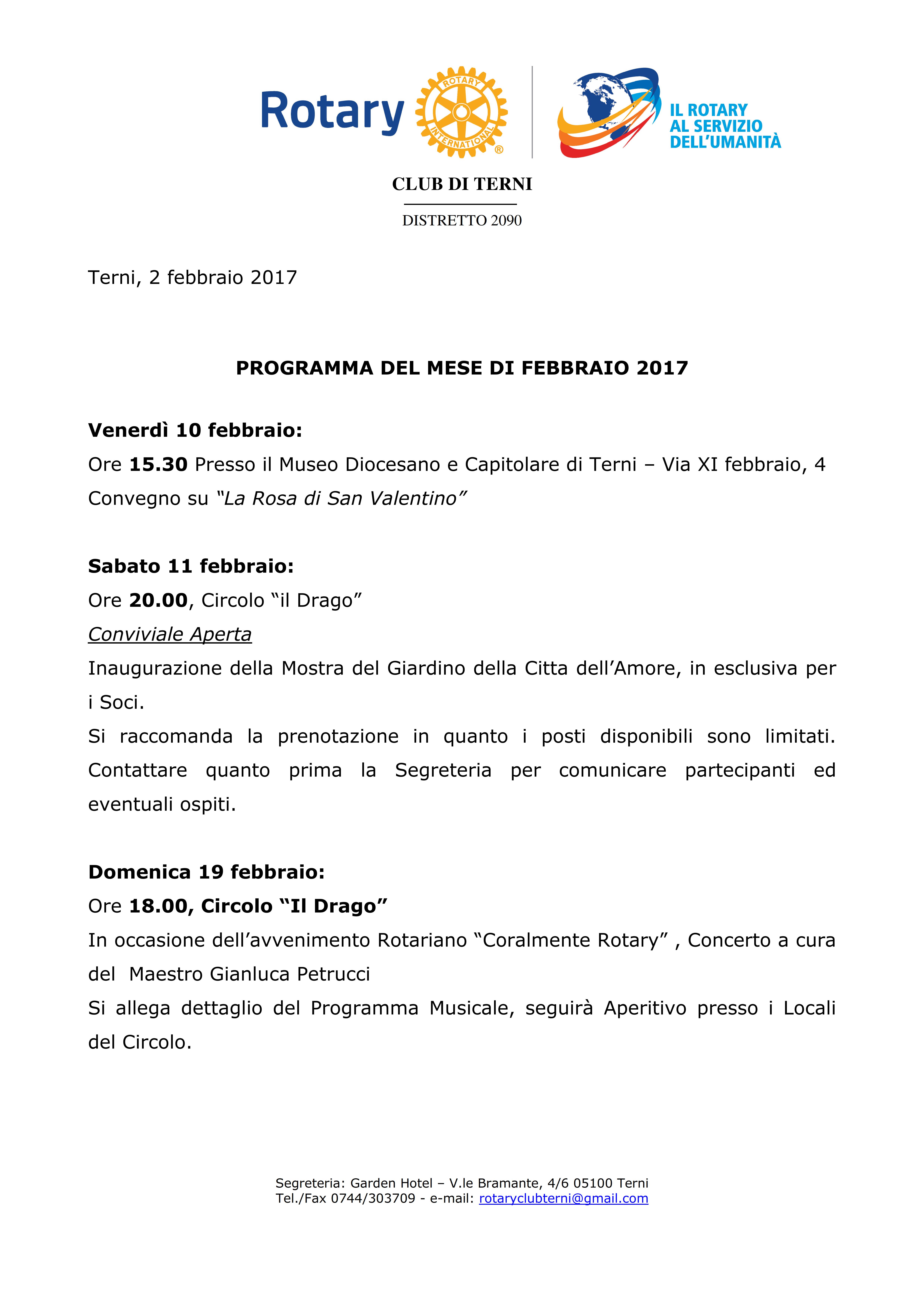 Rotary Club Terni - Programma Febbraio 2017_001