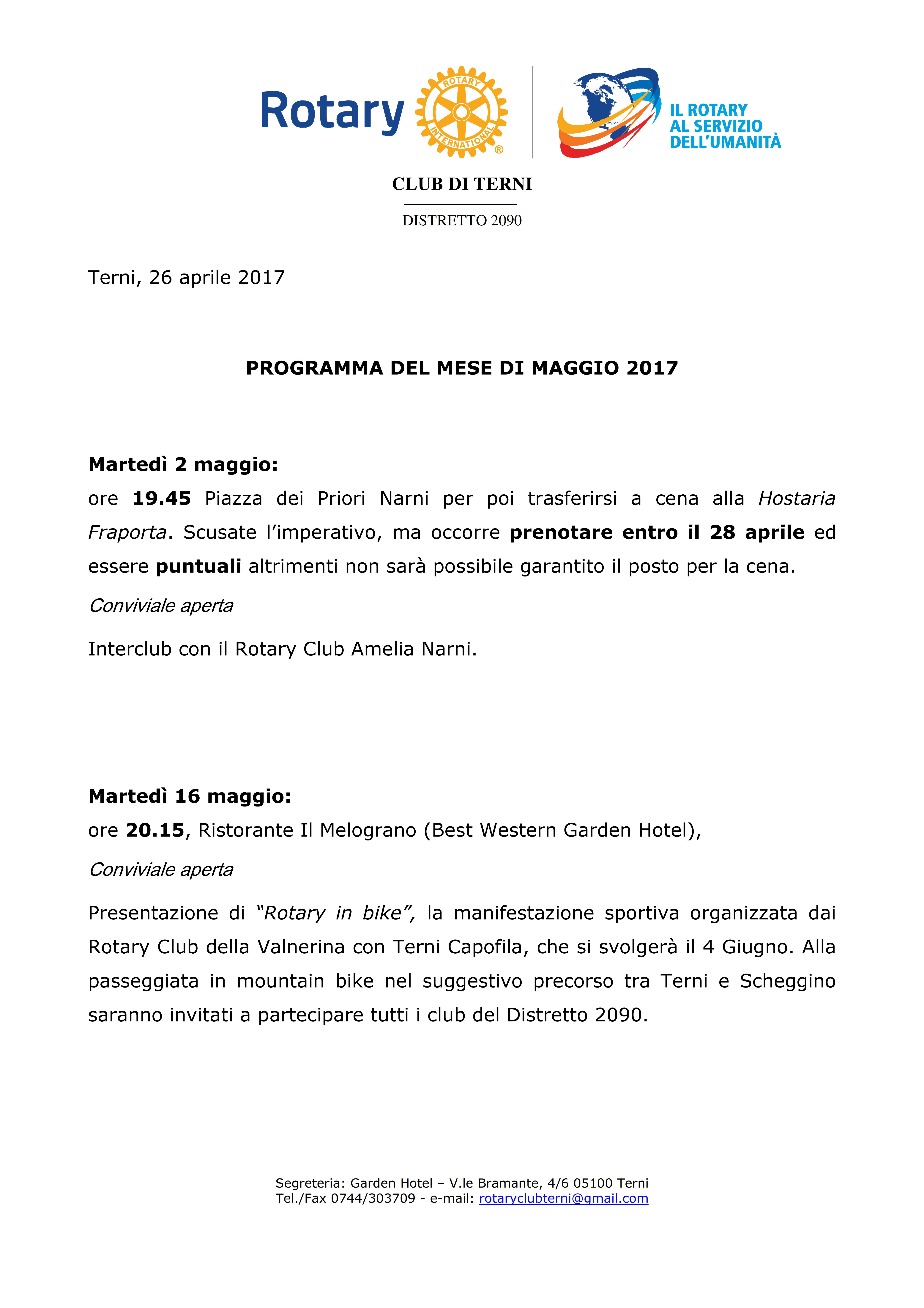 Rotary Club Terni - Programma Maggio 2017_001